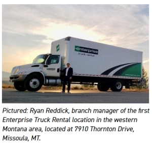 Pictured: Ryan Reddick, branch manager of the first Enterprise Truck Rental location in the western Montana area, located at 7910 Thornton Drive, Missoula, MT.